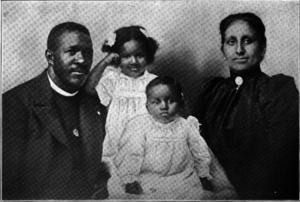 Julia Ringwood Coston - William Hilary Coston (left), Julia Ringwood Coston (right), and their children