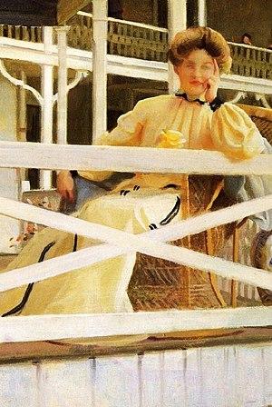 William McGregor Paxton - Image: William Mc Gregor Paxton (1869 1941) The White Veranda 1902