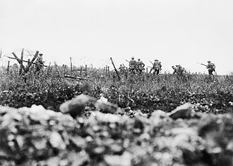 Arthur Percival - Near Thiepval, 7 August. Photo by Ernest Brooks.