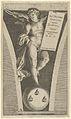 Winged genius holding a tableau, standing on a sphere with three bees MET DP836881.jpg