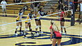 Women's volleyball, Fresno State at Cal 2010-09-11 3.JPG