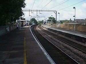 Wood Street railway station - Image: Wood Street stn look south
