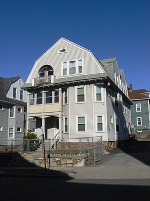 National Register of Historic Places listings in Worcester, Massachusetts - Image: Worcester MA Lars Petterson Fred Gurney Three Decker