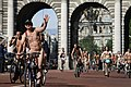 World Naked Bike Ride in London on The Mall, June 2013 (6).JPG