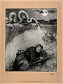 World War One; a large snake, symbolic of a gas attack, stri Wellcome V0015801.jpg