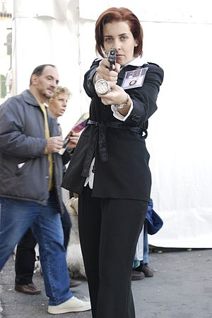 Dana Scully - A fan cosplaying as Agent Scully
