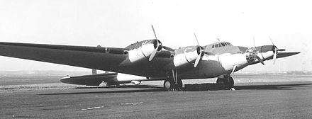 The XB-15 parked on an airstrip. - Boeing XB-15