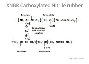 Nitrile rubber - XNBR structure