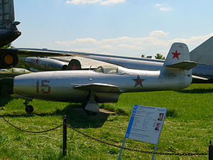 Yakovlev Yak-23 - Yak-23 in the Russian Central Air Force Museum, Monino Airfield