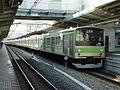 Yamanote Line 205 series set 56 Uguisudani Station 20030528.JPG