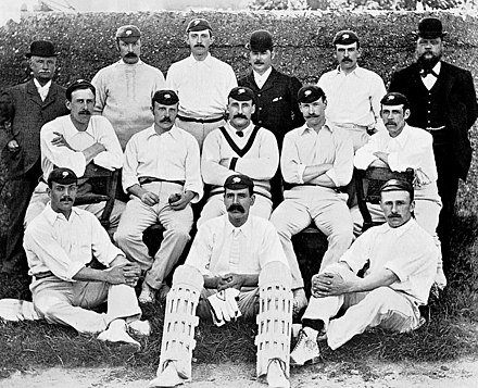 Yorkshire County Cricket Club in 1895. The team first won the County Championship in 1893. Yorkshire-CCC-1895.jpg