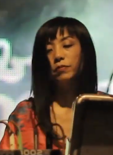 Honda performing with Cibo Matto in Argentina in 2014