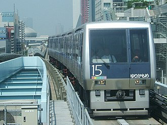 Automated guideway transit - Yurikamome AGT, Odaiba Tokyo, Japan