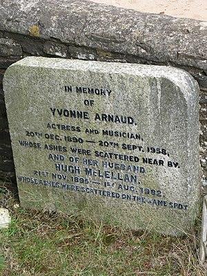 Yvonne Arnaud - Yvonne Arnaud's memorial in the churchyard of St. Martha's on the Hill