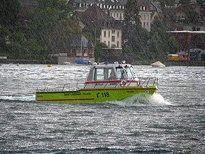 Zollikon - Zollikon SAR boat (Seerettungsdienst) on Lake Zürich (June 2009)