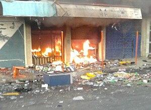 2011 Dohuk riots - Image: Zakho riots 2011