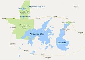Makgadikgadi Pan - Image: Zambezian Halophytics map