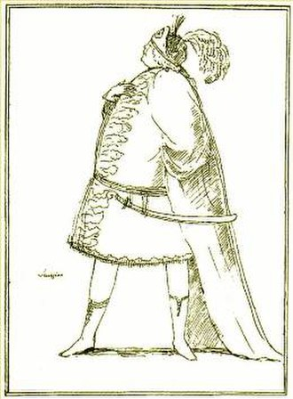 Floridante - Caricature of Senesino, who created the role of Floridante