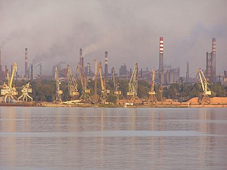 Zaporizhia - Industry and river port