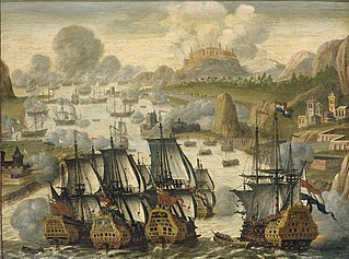 Naval Battle of Vigo Bay, 23 October 1702. Episode from the War of the Spanish Succession