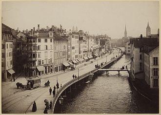 Limmatquai - Limmatquai as seen from Central around the 1880s