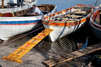 "Yal (boat) - Russian wooden planked hull yals, model ""Yal-4""."