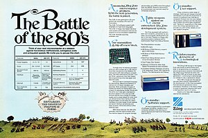 Zilog Z80 -  A May 1976 advertisement for the Zilog Z-80 8-bit microprocessor