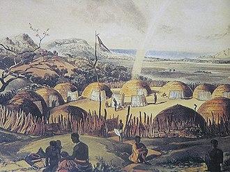 Kraal - Zulu kraal near Umlazi, Natal