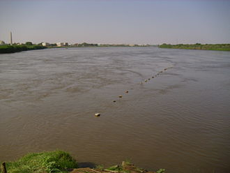Blue Nile - Confluence of Blue and White Nile near Khartoum