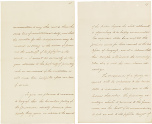 Indian Removal Act - Andrew Jackson's December 1830 message to Congress, justifying the relocation of southeastern American Indian tribes allowed by the Indian Removal Act