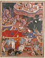 """Assad Ibn Kariba Launches a Night Attack on the Camp of Malik Iraj"", Folio from a Hamzanama (The Adventures of Hamza) MET sf18-44-1a.jpg"