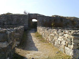 Romania in Antiquity - Ruins of the walls of Histria