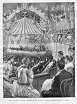 """THE NEW YORK COLUMBIAN CELEBRATION--THE BANQUET AT LENOX LYCEUM"", published in ""Harper's Weekly"" October 1892.jpg"