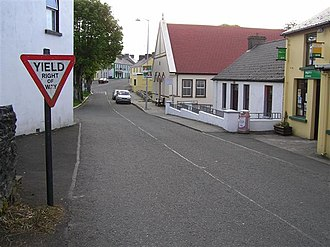 Road signs in Ireland - Old Yield sign in Culdaff, Inishowen.