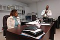 (Hurricane Katrina) Kiln, Miss., February 10, 2006 -- Joe Williams (right) and his wife Cardia now work for Hancock County at the Emergency Operations Center (EOC). The couple decid - DPLA - 604ad084ebf79e0df74c70a27ebb76fb.jpg