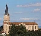 Église St Cyr vue depuis Croix St Cyr Menthon 2017-08-12 1.jpg