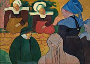 Émile Bernard Breton Women at a Wall