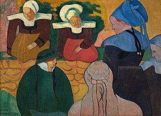Breton Women at a Wall - Image: Émile Bernard Breton Women at a Wall