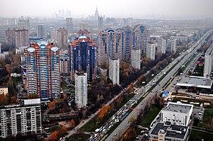 Leninsky Avenue, Moscow - Image: Вид на Ленинский пр т с 52 эт