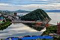 Вид на Никольскую сопку, Култучное озеро и Авачинскую бухту с Мишенной сопки.jpg