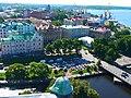 Вид на центральную часть города с башни Св. Олафа Выборгского замка, г. Выборг (Санкт-Петербург)..JPG