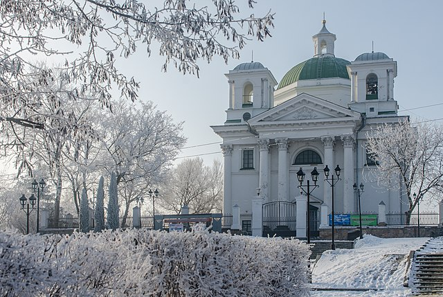 Костьол святого Івана Хрестителя, Біла Церква, Київська область. Автор фото — Роман Наумов, вільна ліцензія CC BY-SA 4.0