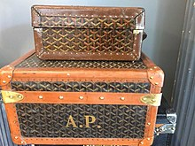 Goyard Trunk belonging to A.Piskulieff