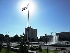 Флаг Таджикистана, Худжанд.JPG