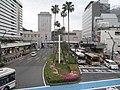 元町横断歩道橋から見たJR徳島駅 Tokushima Sta. - panoramio.jpg