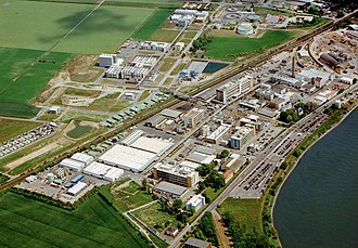 Merck Group - Merck chemical production plant in Gernsheim