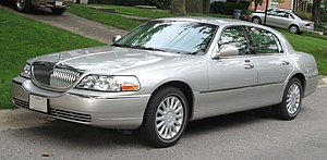 2003-2007 Lincoln Town Car photographed in USA.