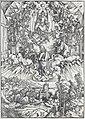 04. Albrecht Dürer, Apokalypsa, II. Sv. Jan před Bohem a starci, Národní galerie v Praze.jpg