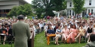 Putney, Vermont - A graduation ceremony at The Putney School in 2004