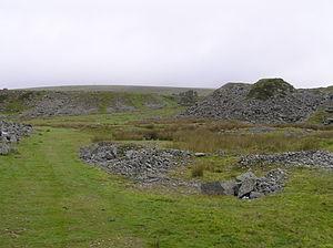 Plymouth and Dartmoor Railway - Foggintor quarry looking north